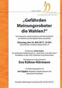Podiumsgespräch am 23. Mai 2017, 19 Uhr im Gallustheater Frankfurt a.M.