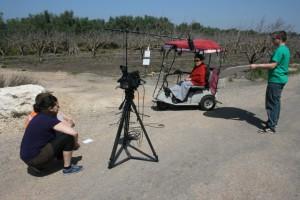 Frankfurter Studenten bei den Filmaufnahmen im Kibbuz Ma`abarot