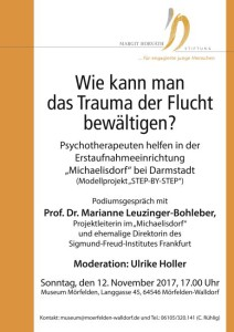 Am 12. November haben wir zu Gast die langjährige Direktorin des Frankfurter Sigmung-Freud-Institutes Frau Prof. Dr. M. Leuzinger.Bohleber.