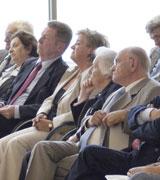 Vera Dotan, Bürgermeister Brehl, Magda Kertesz, Trude Simonsohn und Dr. Karl Brozik sel.A. (v.l.n.r.)