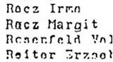 Deportationsliste mit dem Namen von Margit Horvath, geb. Racz.