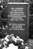 Der Gedenkstein am Gelände des KZ-Außenlagers Walldorf.