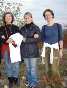 Birgit Schüller während einer Studienfahrt mit Jugendlichen in Ungarn.